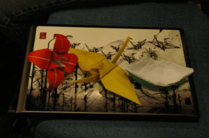 origami on a laptop